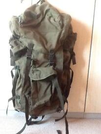 Large ex army rucksack