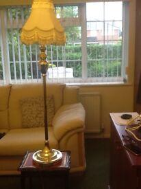 Floor standing living room side lamp brass very good condition £25