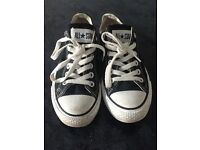 Black & White 'ALL STAR' Converse girls trainers...