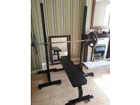 Heavy Duty Commercial Squat Stands & Flat Bench