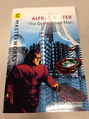 THE DEMOLISHED  MAN - ALFRED  BESTER - MASTERWORKS NEW  PAPERBACK BOOK