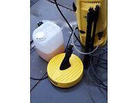 Karcher Premium Pressure Washer with patio attachment and cleaning fluid NOT COMPACT