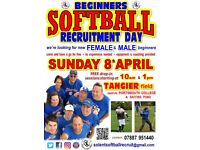 SOFTBALL - free beginners recruitment sessions for WOMEN and MEN