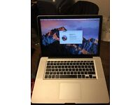 MacBook Pro 15-inch, with new motherboard, intel core I7, ram 8gb, SSD samsung 128gb