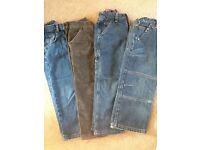 4 piece bundle of jeans/cords, age 5yrs, immaculate