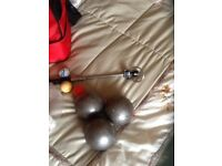 Petanque boules and bag and coches telescopic magnet