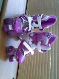 No fear adjustable roller skates size 1-4 girls