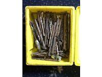 Box of mixed drill bits