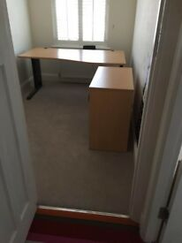 Office desk and pedestal drawers (Top Quality) - FREE to collect... when gone they are gone!