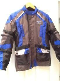 Youths motorbike heavy duty protective jacket