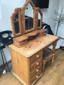 SOLD **** Solid wood dressing table
