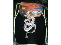 Black and pink Chinese dragon car mats