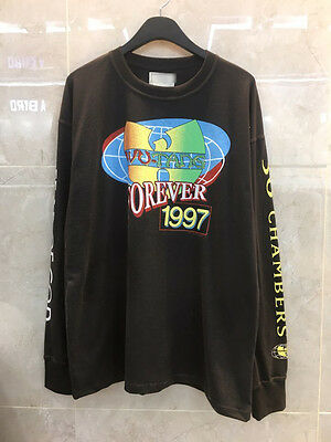 New Wu-tang Forever 1997 Graphic Long Sleeve T-Shirts Black Crew Streetwear