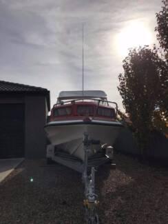 swift craft sea gull 5mtr half cabin