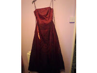 Morgan & Co Wine Colour Long Dress (10) Perfect for bridesmaid or Xmas New Year party! £20