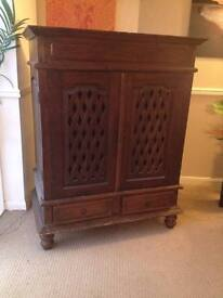 Large Dark Wood Cabinet REDUCED FOR QUICK SALE - HALF PRICE