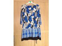 Blue dress/tunic size 14