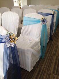 100 Blue Chair Sashes