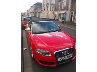 Red Audi A4 Cabriolet Convertible TFSI SLine - 2.O TDI