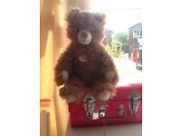 Gorgeous steiff cosy friends teddy bear in greatcondition stud still in its ear label attached