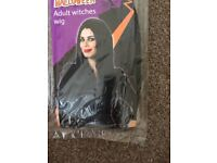 LONG BLACK FANCY DRESS WIG GREAT FOR PARTY OR HEN DO HAVE MORE WIGS FOR SALE