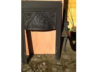 Victorian Fireplace Inset and Canopy