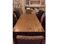 Next solid wood Hartford dining table and chairs