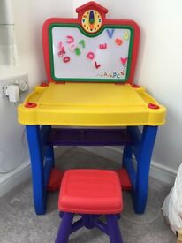 Child's desk and stall