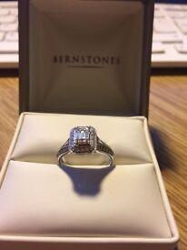 Bernstones (Hatton Garden) Split Shoulder Diamond Ring