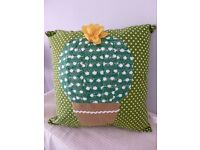 Cactus Cushions Pink and Yellow Home Sofa Bed