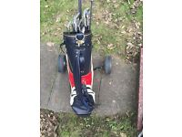 FULL GOLF SET & TROLLEY EXCELLENT CONDITION