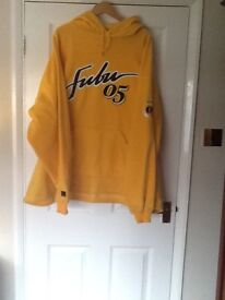 FUBU CANARY YELLOW HOODED TOP