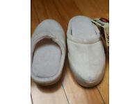 BRAND NEW Cotton Trader Memory Foam Slippers - size 3