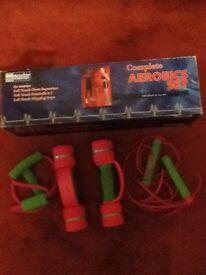 Aerobics set complete.