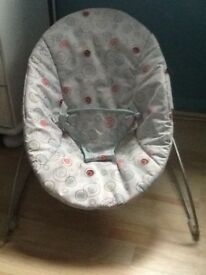 Baby bouncer by bright stars - soft cloth