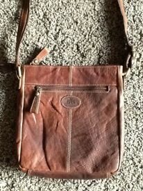 Rowallan brown hand made fine leather handbag