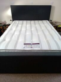 Nearly new king size bed with or without a mattress