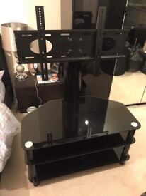 BLACK COLUMN TV STAND, GREAT CONDITION
