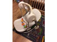 Mamas&Papas musical baby swing batteries + free toy good condition pet free home