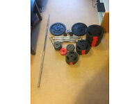 Weights Dumbell & Barbell Set Cast Iron Training Exercise
