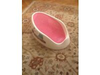 Angel care baby bath support pink