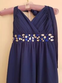 Ladies blue maxi dress only worn once!