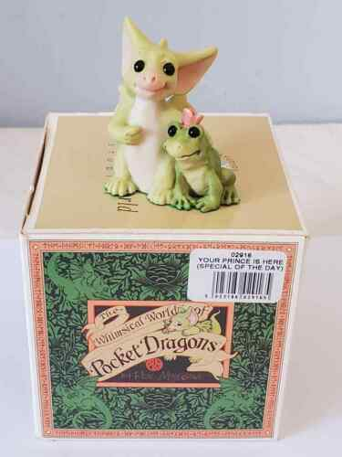 """1999 Whimsical World of Pocket Dragons  """" Your Prince Is Here """" Mint In Box"""