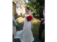Maggie Sottero size 12 wedding dress platinum white