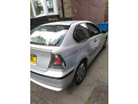 BMW 316 TI Full MOT 1 YEAR! . starts and drives, Needs Spark Plugs I think Swap or Sale. fullsrevice