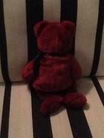 Red plush teddy bear