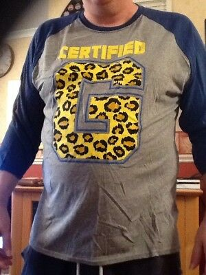 Official WWE Enzo Cass Certified G 3/4 Sleeve Raglan Shirt Size 3XL