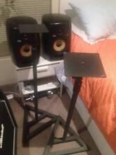 2 x KRK VXT6 with speaker stands Brunswick East Moreland Area Preview
