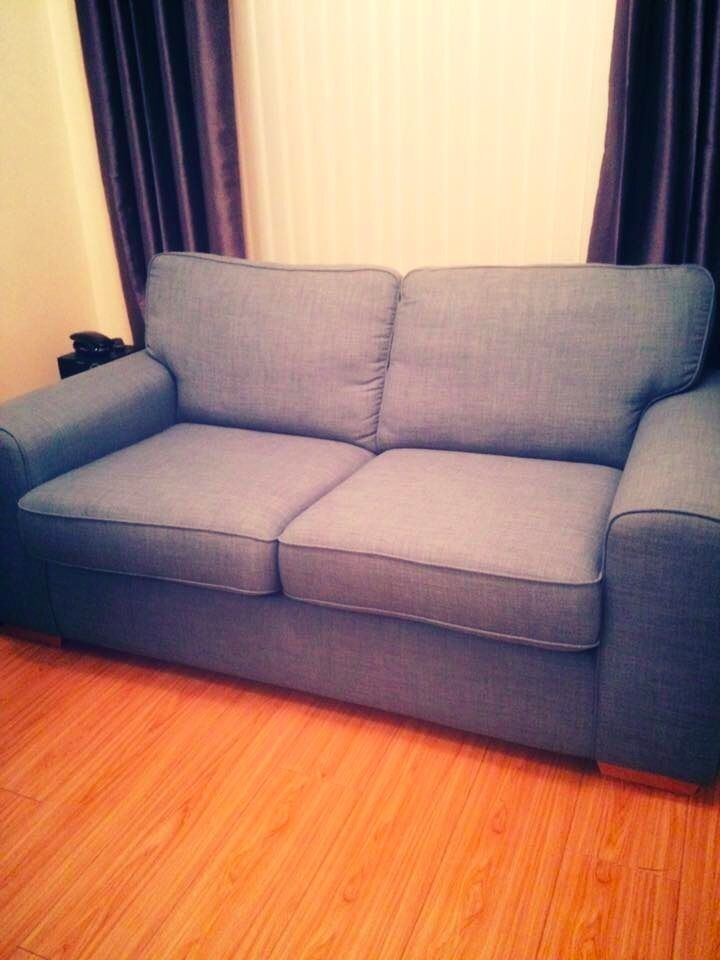 Sky blue sofas for sale 2 3 seater purchased in 2014 for Blue sofas for sale