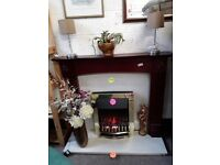 Mahogany fire surround Copley Mill LOW COST MOVES 2nd Hand Furniture STALYBRIDGE SK15 3DN